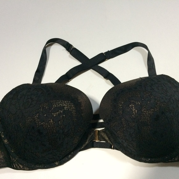 Cacique Other - Cacique Shine Foil & Lace 42DD Boost Plunge Bra